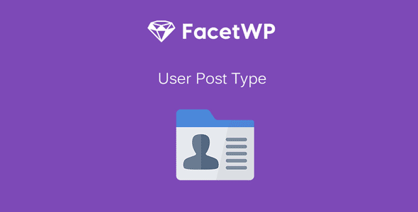 FacetWP User Post Type Addon